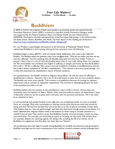Buddhism - National Action Alliance for Suicide Prevention