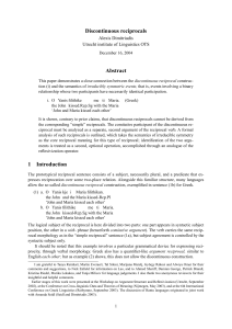 Discontinuous reciprocals Abstract 1 Introduction