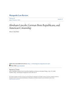 abraham lincoln, german-born republicans, and american citizenship