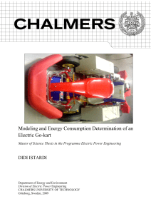 Modeling and Energy Consumption Determination of an Electric Go