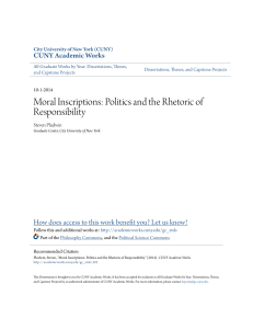 Moral Inscriptions: Politics and the Rhetoric of Responsibility
