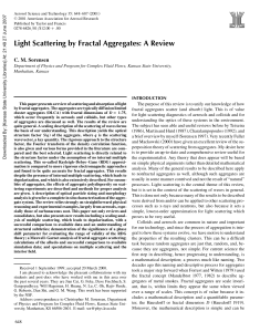 Light Scattering by Fractal Aggregates: A Review