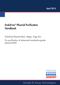 EndoFree® Plasmid Purification Handbook