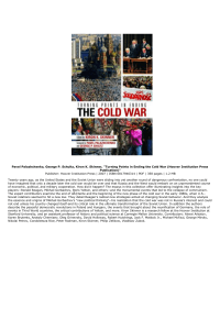 Turning Points in Ending the Cold War (Hoover Institution Press P