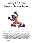 Rising 6 Grade Summer Review Packet