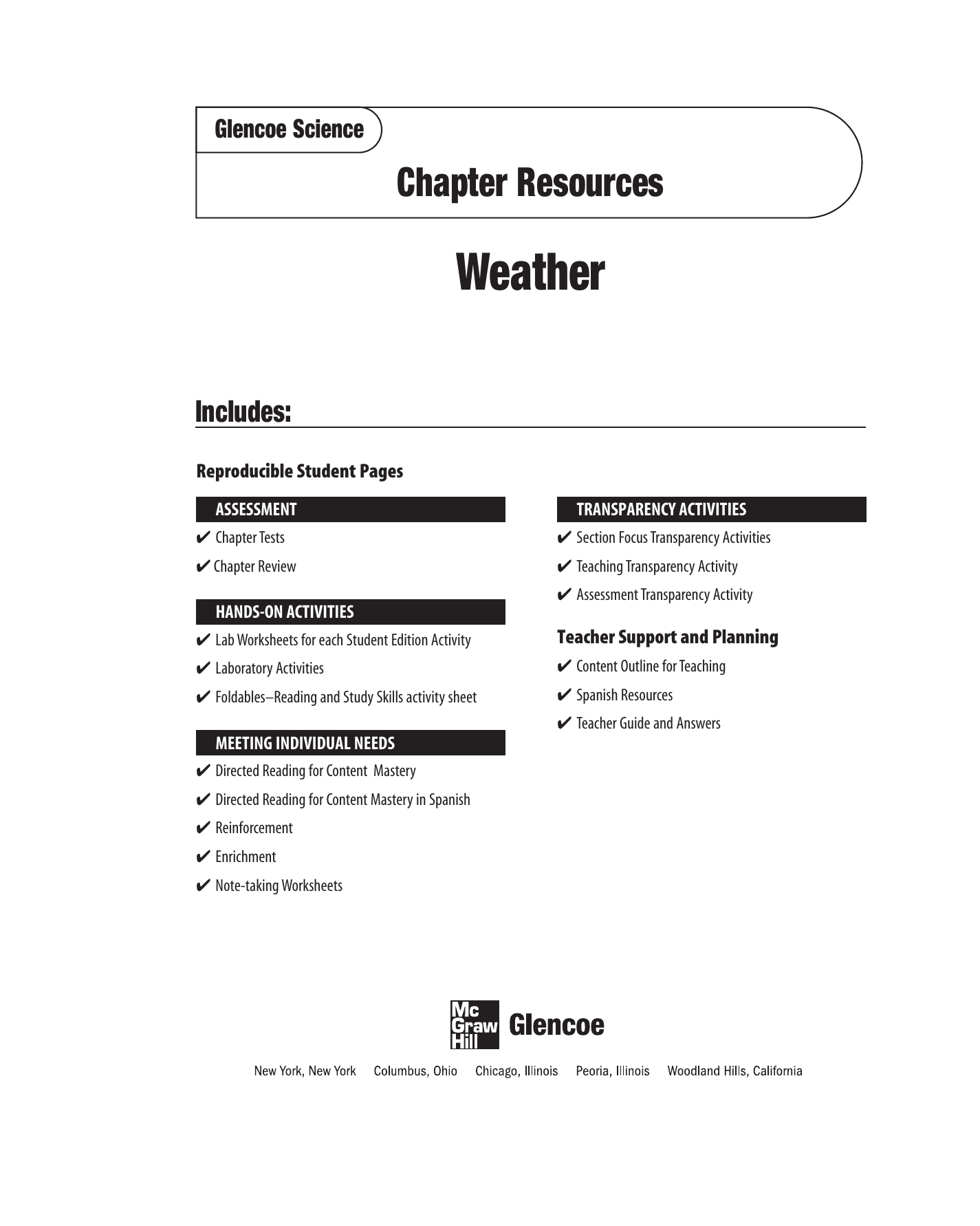 Chapter 5 Resource: Weather
