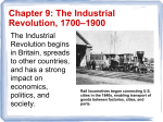 Chapter 9: The Industrial Revolution, 1700–1900
