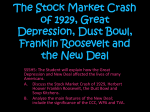The Stock Market Crash of 1929, Great Depression, Dust Bowl