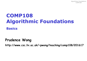 COMP108 Algorithmic Foundations