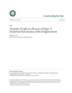 Triumph of Light or a Beacon of Hope