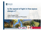 Is the speed of light in free