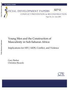 Young men and the construction of masculinity in Sub