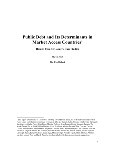 Public Debt and Its Determinants in Market Access Countries 1