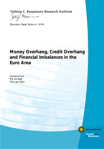 Money Overhang, Credit Overhang and Financial Imbalances in the