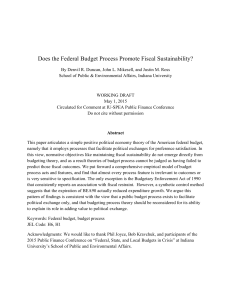 Does the Federal Budget Process Promote Fiscal Sustainability?