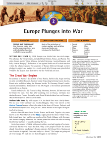 Europe Plunges into War - History With Mr. Green