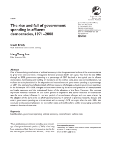 The rise and fall of government spending in affluent democracies