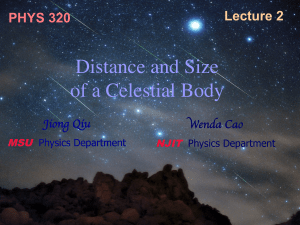 Lecture02: Astronomical Distance