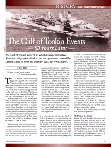 The Gulf of Tonkin Events