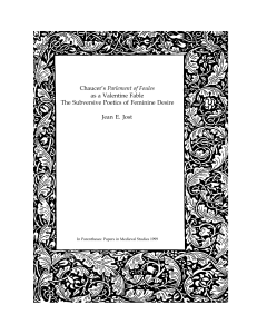 Chaucer`s Parlement of Foules as a Valentine Fable