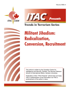 Militant Jihadism - The Investigative Project on Terrorism
