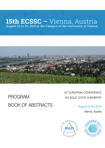 program book of abstracts - ecssc15