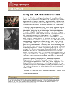 Slavery and The Constitutional Convention