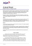 A-level Music Coursework Coursework: MUSC5 - Writing a