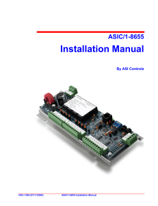 ASIC/1-8655 Installation Manual