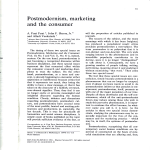 Postmodernism, marketing and the consumer