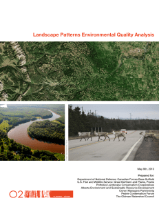 Landscape Patterns Environmental Quality Analysis