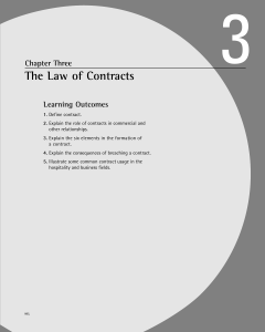 The Law of Contracts - Book Companion Site