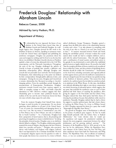 Frederick Douglass' Relationship with Abraham Lincoln