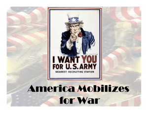 America Mobilizes for War