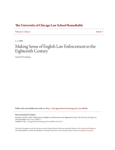 Making Sense of English Law Enforcement in the Eighteenth Century