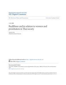 Buddhism and its relation to women and prostitution in Thai society
