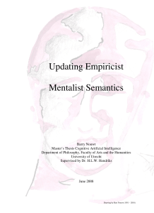 Updating Empiricist Mentalist Semantics