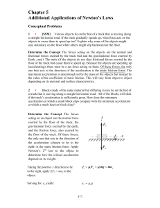 Chapter 5 Additional Applications of Newton`s Laws