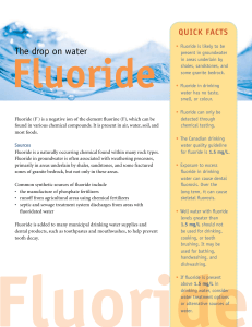 Fluoride - Government of Nova Scotia