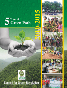GREEN PATH 2010-15__FINAL - Council for Green Revolution