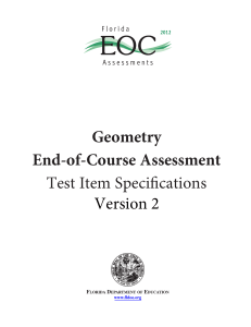 Geometry EOC Assessment Test Item Specifications, Version 2