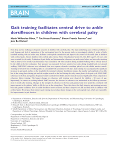 Gait training facilitates central drive to ankle