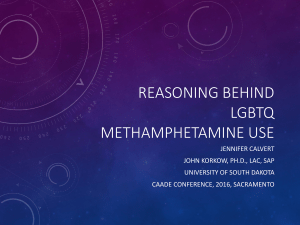 LGBTQ Methamphetamine Use
