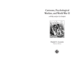 Cartoons, Psychological Warfare, and World War