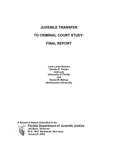 juvenile transfer to criminal court study: final report