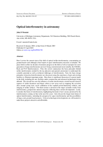 Optical interferometry in astronomy