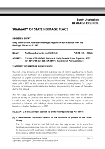 summary of state heritage place