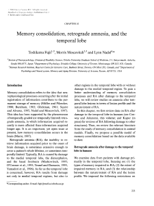 Memory consolidation, retrograde amnesia, and the temporal lobe