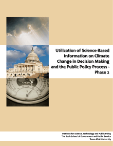 Utilization of Science-Based Information on Climate Change in