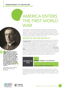 america enters the first world war